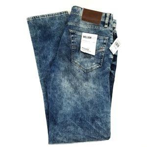 William Rast Hixon Straight Leg Acid Wash Jeans